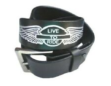 Bikers Snap On Genuine Leather Live To Ride Belt