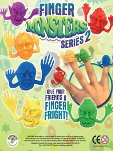 14 x FINGER PUPPETS FRIGHT MONSTER KIDS TOY FAVOR LOOT BIRTHDAY PARTY BAG FILLER