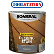 Ronseal Quick Drying Decking Stain 2.5L Rocky Grey