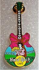 Hard Rock Cafe Kobe Cherry Blossom Guitar w/Geisha 2003 Pin Le 300