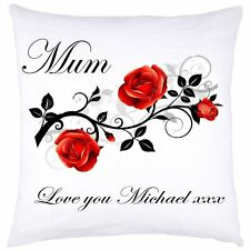 PERSONALISED CUSHION COVER MOTHER'S DAY 1 BIRTHDAY WEDDING ANY OCCASION GIFTS