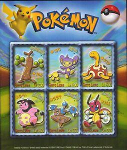 MODERN GEMS - Sierra Leone - Pokemon - Sheet of 6 - MNH