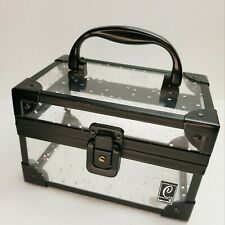 Caboodles Black/Clear w/Halographic  Stars Makeup Case with Handle - No Key