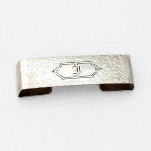Webster Hammered Napkin Ring Open Back Sterling Silver Mono