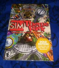 New Sim Theme Park: Gold Edition (1999) Video Game For PC Windows 95 98 Freeship
