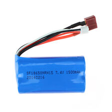 7.4V 1500mAh Lipo Battery with T Plug for Wltoys 12428 12423 12401 12404 RC Car