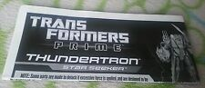 TRANSFORMERS PRIME THUNDERTRON INSTRUCTION BOOKLET ONLY