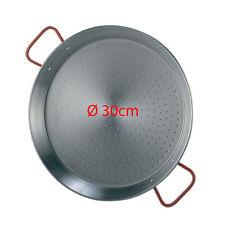 30cm Polished Steel Paella Pan Paellera Valenciana