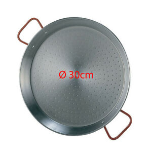 30cm Polished Steel Paella Pan - Paellera Valenciana NEXT DAY DELIVERY UK STOCK