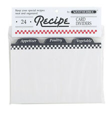 "Recipe Card Dividers 4""x 6"" by Weatherbee Organize Your Recipes Set of 24"