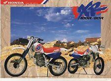 1992 HONDA XR100RN XR80RN 2 Page Motorcycle Brochure NCS