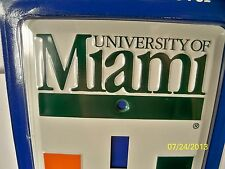 The University of Miami Hurricanes football single light switch plate cover #1