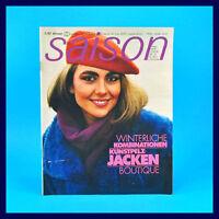 DDR Saison 3/1985 Winter Modezeitschrift Kunstpelzjacken Kombinationen