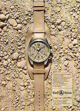 PUBLICITE ADVERTISING 2007   BELL & ROSS montre Désert type               280412