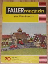 Faller AMS ---  Faller Magazin 70, Mai 1969, Sprache Niederländisch !