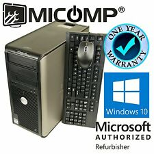 Lot of 5 Dell 780 Tower Desktop Computer Core 2 Duo 3.0Ghz 8GB 500GB Windows 10