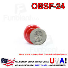 Sanwa OBSF-24 - RED Momentary  Push Button JAMMA guitar killswitch 24mm MAME