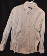 Mens NWT Large Beige Button Down Shirt