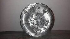 The Forge Floral Pattern Hand Hammered Aluminum Plate Williamsburg Virginia