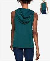 Under Armour Womens Terry Hoodie Vest Teal Size Large - $50 - NWT