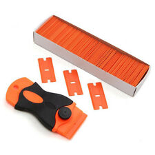 Retractable Razor Scraper Removal Tool &Plastic Double Edged Blades for Cars Hot