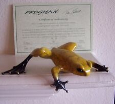"""""""DUKE"""" by Frogman Tim Cotterill Limited Edition Bronze Frog #20 of 1000 ES w/COA"""