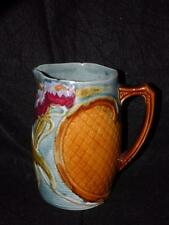 """ANTIQUE MAJOLICA WATER LILY PITCHER  7.25"""" TALL"""