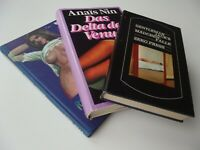 3 Erotica VARIA Sammlung LOT Erotik Romane erotische Literatur moderne Klassiker