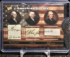 2020 THE BAR POTP PRESIDENT GEORGE WASHINGTON HAND WRITTEN DOCUMENT RELIC SSP