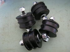 land rover series 2-3 petrol engin mountings with nuts-  x4/ 2 larg 2 small.