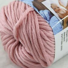 1BallX50g Special Thick Worsted 100% Cotton HAND Knitting Yarn 07 Pink Rose