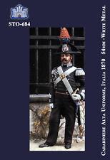 q LA FORTEZZA 54 mm - Carabiniere in alta uniforme, Italia 1870 (STO-684)