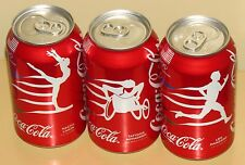 Coca-Cola Coke USA 2016 Rio Olympic Rings 3 Cans