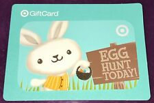 "Target Collectible Gift Card Fuzzy Easter Bunny ""Egg Hunt Today"" No Value New"