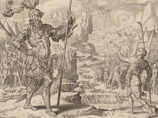 MAERTEN VAN HEEMSKERCK DAVID MEETING GOLIATH OLD ART PAINTING POSTER BB4972A