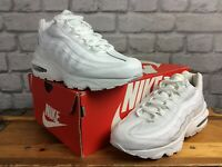 NIKE AIR MAX 95 TRIPLE WHITE TRAINERS VARIOUS SIZES CHILDRENS GIRLS LADIES
