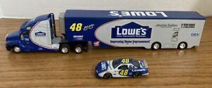 Nascar Lowe's JIMMIE JOHNSON #48 Truck 1:64 HAULER & Car  CUTE!