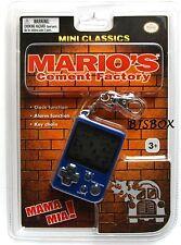 Nintendo Mini Classics MARIO'S CEMENT FACTORY Video Game Clock Key Chain New