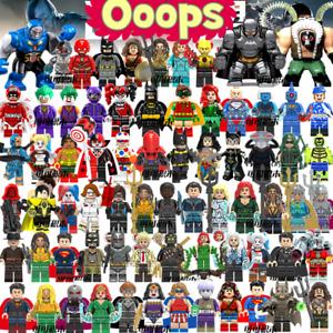 Marvel Super Heroes Avengers DC batman Justice League Minifigures Man Hulk Set