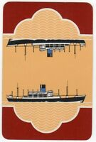 Playing Cards 1 Single Card Old BLUE FUNNEL LINE Shipping Advertising Art Ship 7