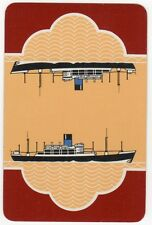 Playing Cards 1 Single Swap Card - Old Vintage BLUE FUNNEL LINE Shipping Ship 7