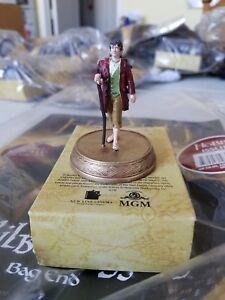 BILBO BAGGINS Figura RESINA 5cm 1/25 SERIE HOBBIT COLLECTOR'S Eaglemoss Anello