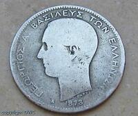 Münze 2 Drachmen Georg I. 1873 Silber Griechenland Münzen Sammlermünze