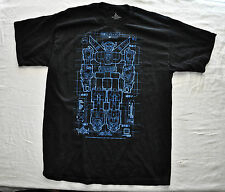 TRANSFORMERS ROBOTIC  BLUEPRINT DRAWING T Shirt  Black Large Cotton Mens