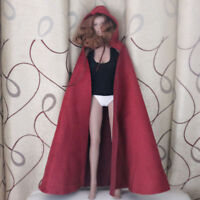 MagiDeal 1:6 Male Female Soldier Body Red Coat Cape Cloak for 12inch TTL HT