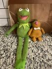 Vintage 1981 Kermit the Frog & 1979 Fozzie Fisher Price Jim Henson Muppets Plush