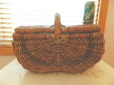 Vintage Double Sided Wicker Buttock Basket with Handle ~ Very Large ~