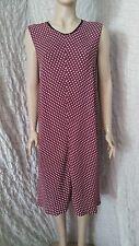 Marni Maroon crêpe viscose sans manches sans doublure robe hiver 2013 taille 14 UK