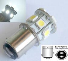 2x Lampe WEIß 6V BAY15D 1157 21/5W 12 SMD Rücklicht/Bremslicht LED Deutsche Post