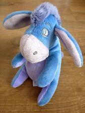 Peluche doudou âne Bourriquet Disney Nicotoy Kiabi Simba bleu mauve rose NEUF